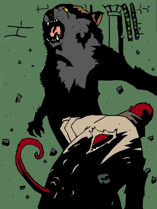 Drawn werewolf hellboy By Vs skuad69 Hellboy skuad69