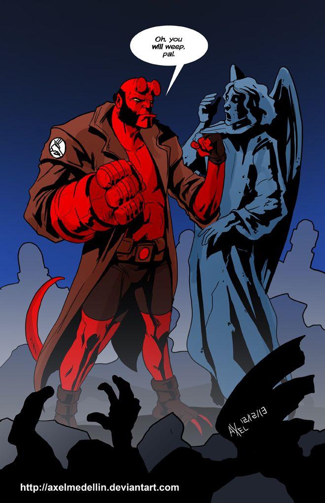 Drawn werewolf hellboy On Angels on by Hellboy