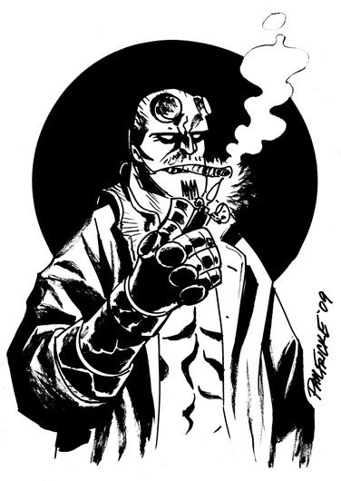 Drawn werewolf hellboy Hellboy Spacebattles of with Good