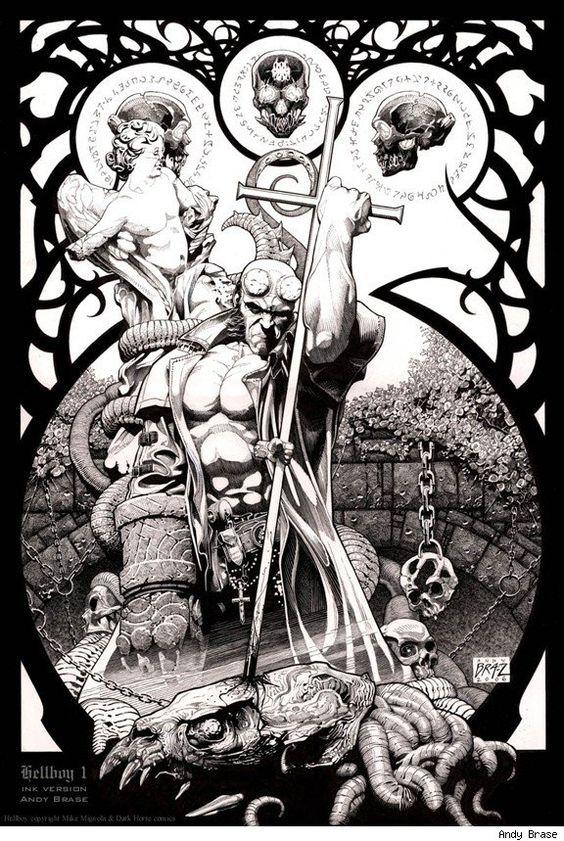 Drawn werewolf hellboy Pinterest and Boys Hellboy Hellboy