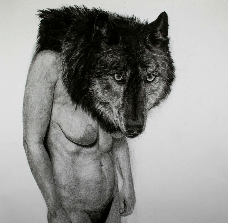 Drawn werewolf human Blind Monkey blevin Shriek kelly