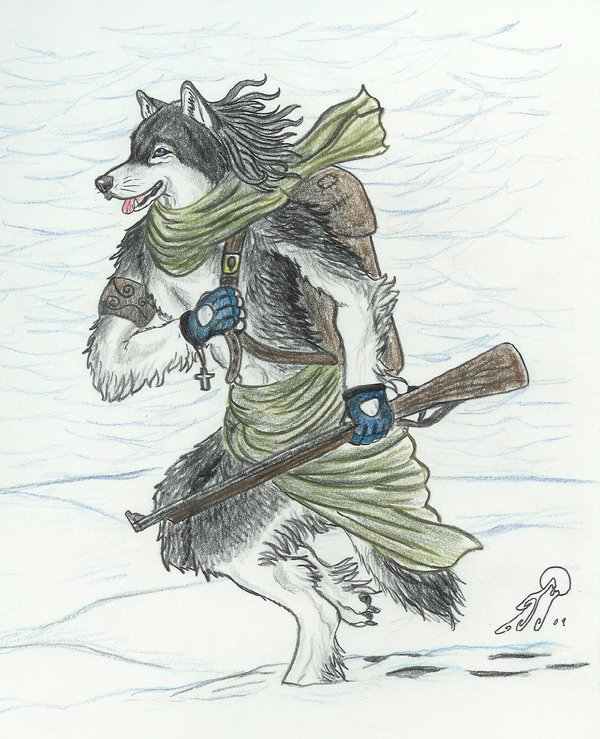 Drawn werewolf humanoid Animals  DeviantArt by Tim