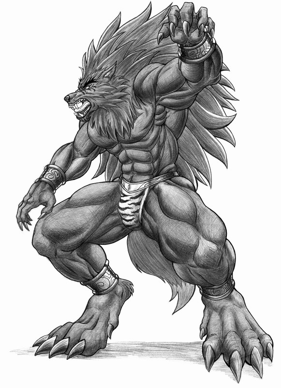 Drawn werewolf humanoid Revolution Lycan by you Lupus