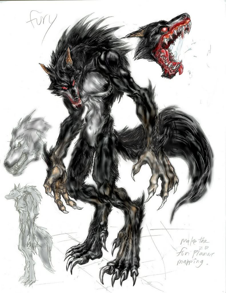 Drawn werewolf humanoid Werewolf WereWolf powered Superhero Fanon