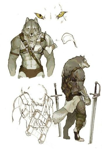 Drawn werewolf humanoid 257 Warrior Animals best images