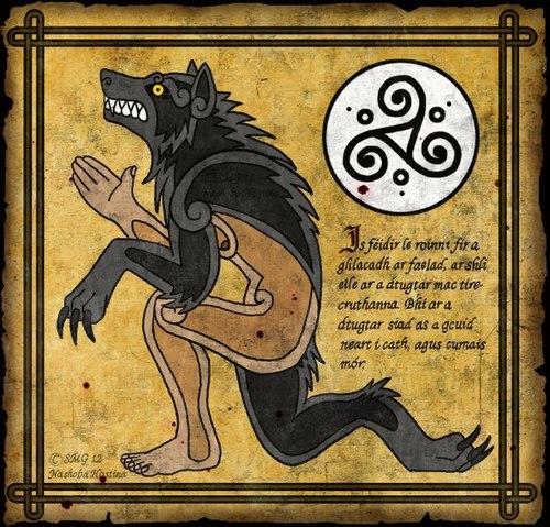 Drawn wolfman irish Their werewolf The Irish faoladh