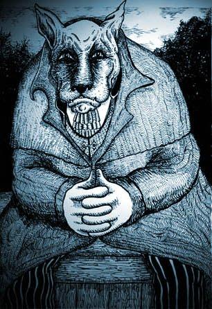 Drawn wolfman irish Werewolves SilentOwl:  Folklore Irish