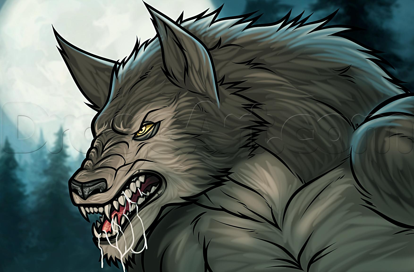 Drawn wolfman female werewolf A Werewolf by Easy Step