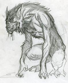 Drawn werewolf monster Design by Pinterest  Art: