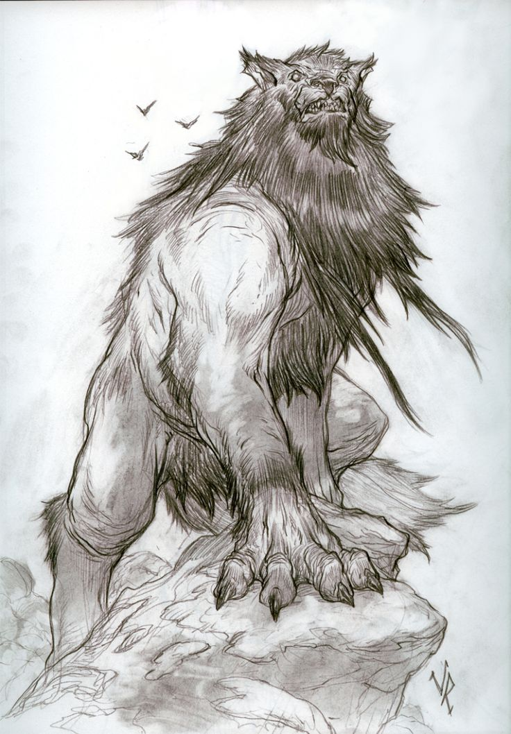 Drawn werewolf monster Pinterest said MonsterDrawing of to