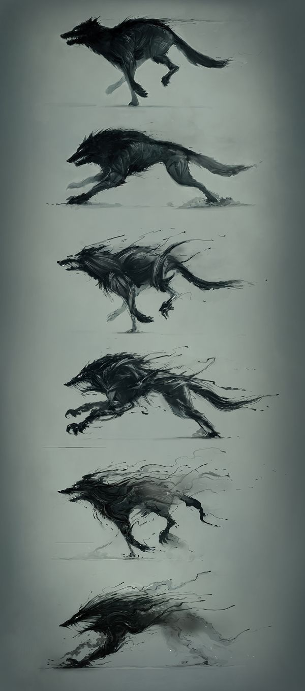 Drawn werewolf monster Image tattoos by Wolves by