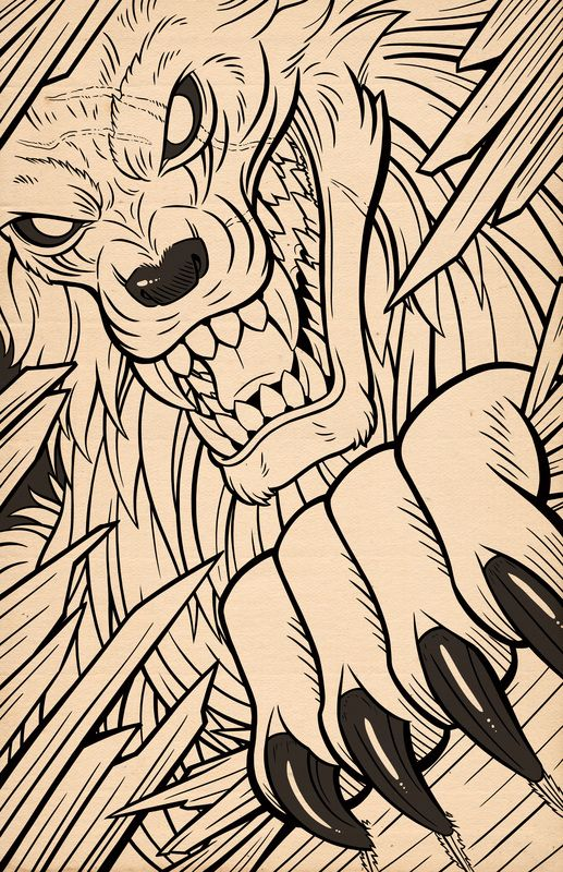 Drawn werewolf monster Lycans/Werewolves A #Illustration on images