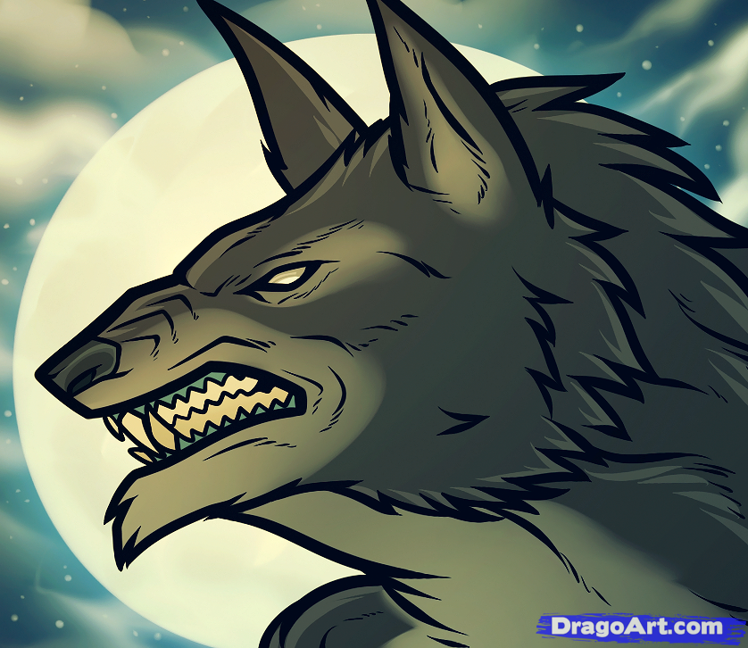 Drawn wolfman female werewolf To Draw Transformation a Werewolf