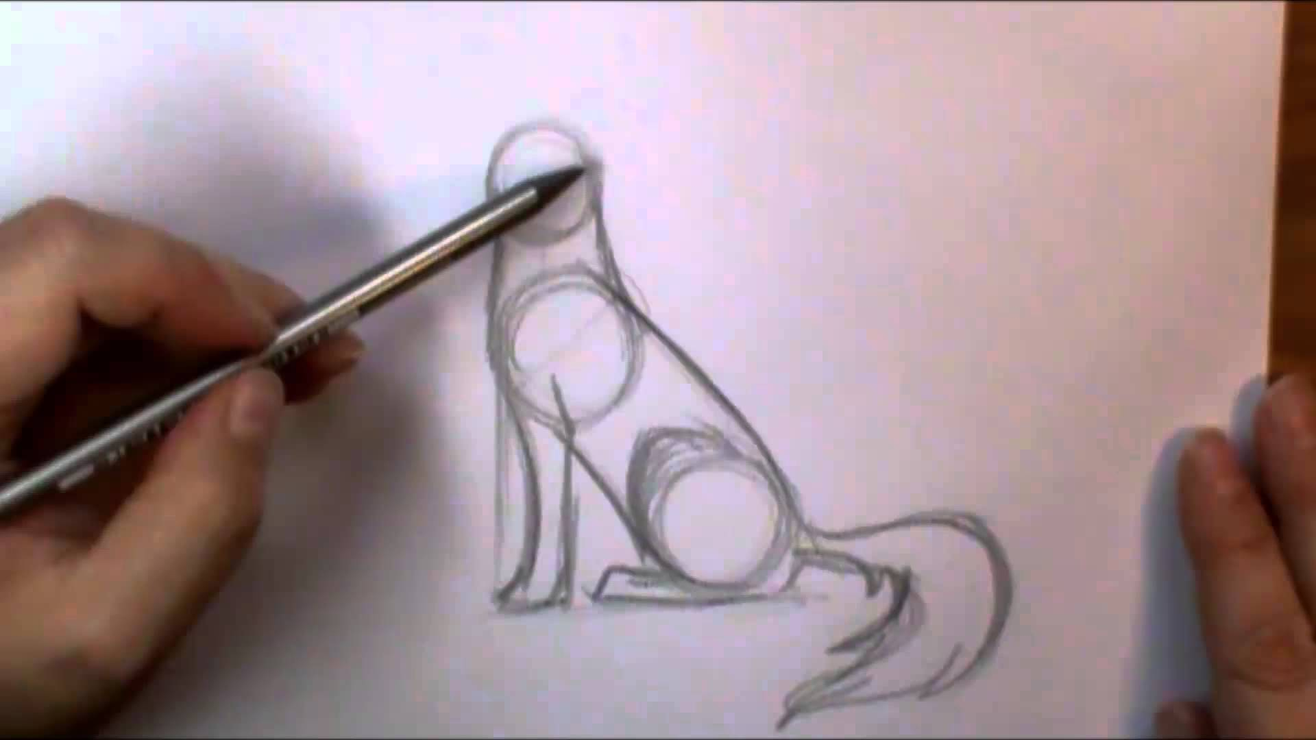 Drawn cilff simple Draw How to  howling