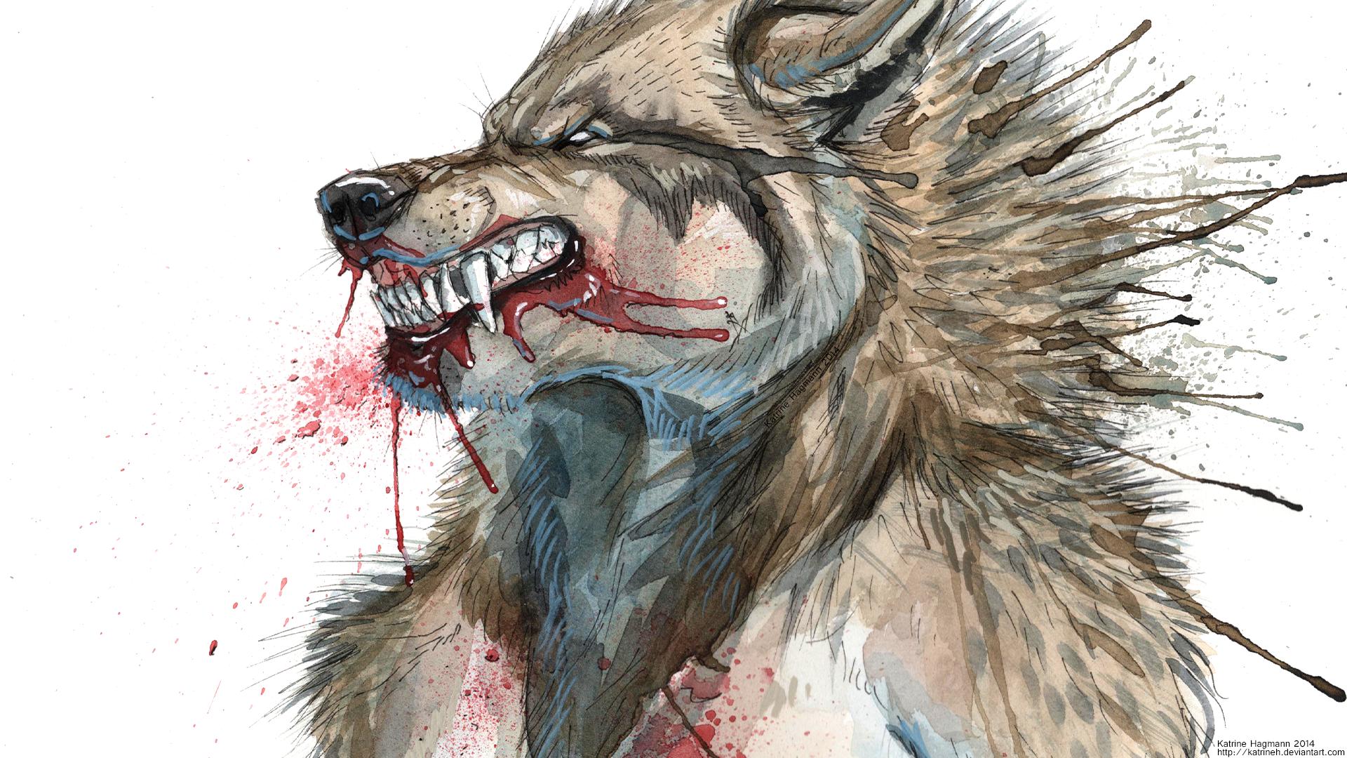 Drawn werewolf rage On KatrineH rage HD wet