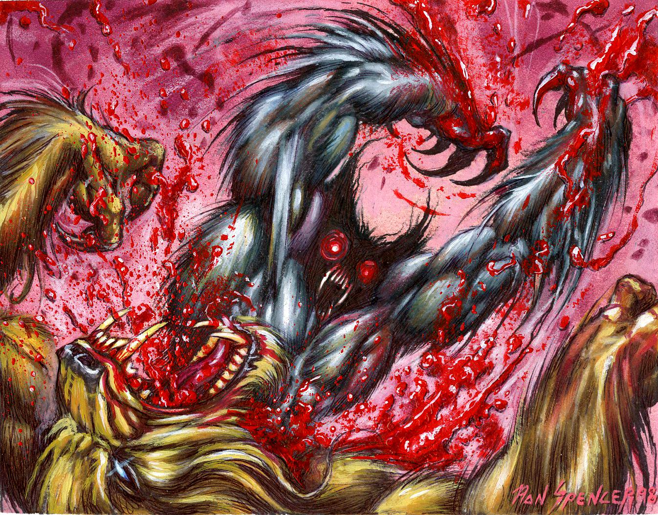 Drawn werewolf rage Ron Rage for ccg Blog