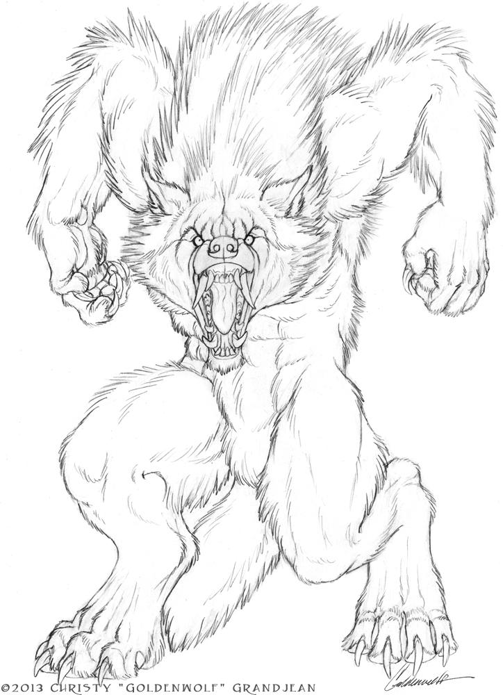 Drawn werewolf rage Goldenwolf Rage Werewolves on Goldenwolf