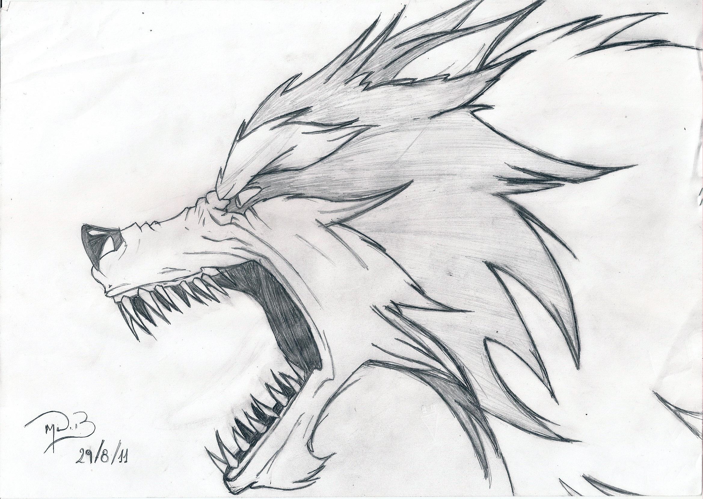 Drawn werewolf rage On 2012 by Jon Wolf