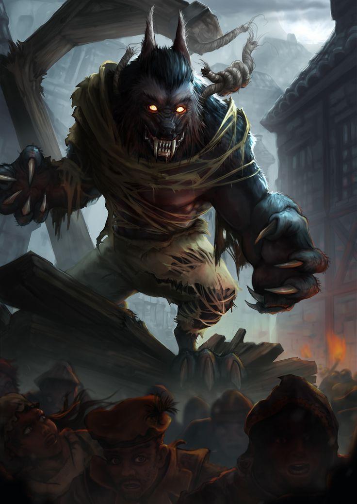 Drawn wolfman rage BADASSERY Rage about 2541 K9