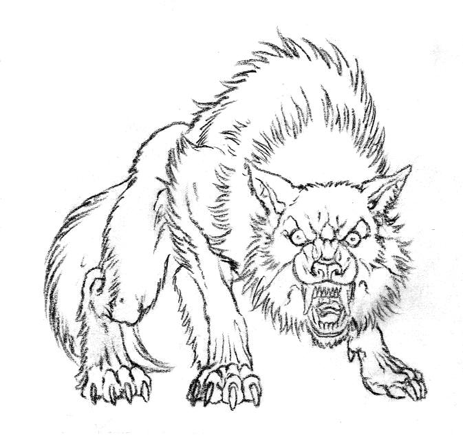 Drawn werewolf rage Games White Ron Blog Beast