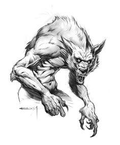 Drawn werewolf really  Resultado Prescott Concept imagem