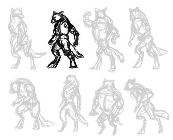 Drawn wolfman sketch How Warrior 2 a study