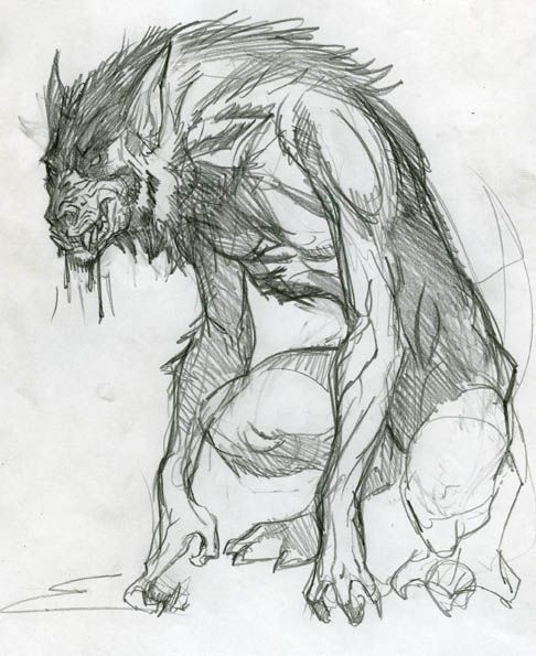 Drawn wolfman rpg On drooly about Pinterest werewolf