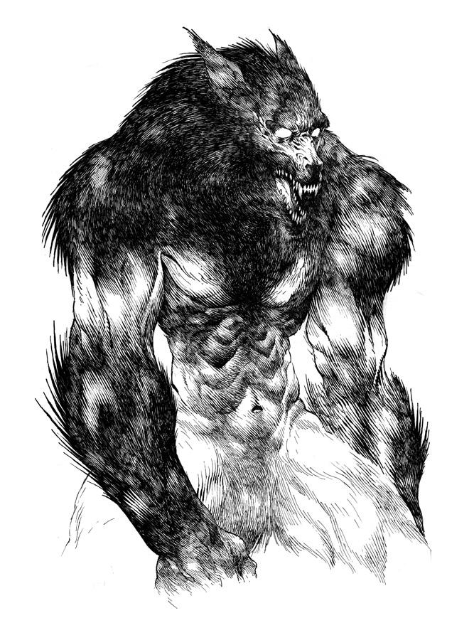 Drawn wolfman rpg #classic Drawing  #rpg #terror