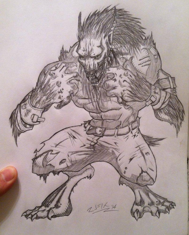 Drawn werewolf sabrewulf RUFIX DeviantArt by RUFIX by
