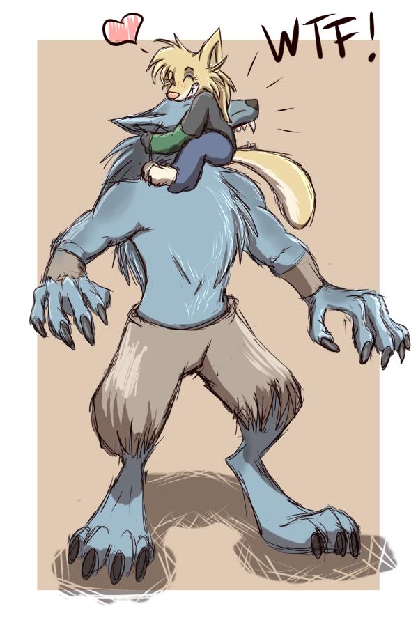 Drawn werewolf sabrewulf Instinct!! VitaniBitzer Killer by Instinct!!