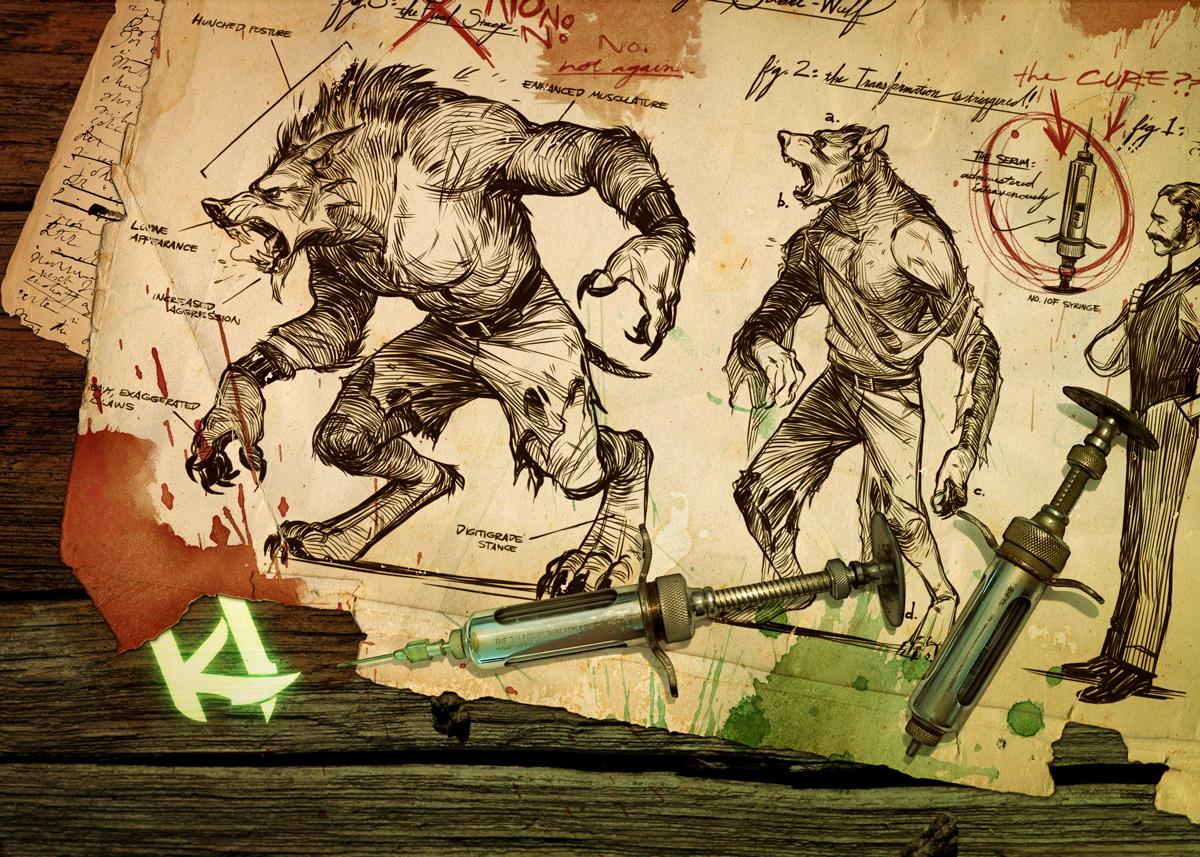 Drawn werewolf sabrewulf Stick shoomlah fight DeviantArt by
