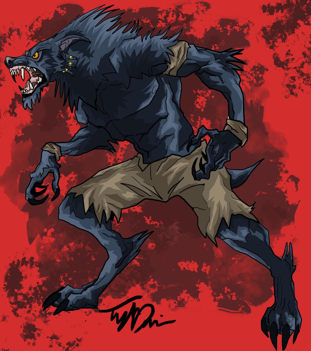 Drawn werewolf sabrewulf Sabrewulf stick DeviantArt on Instinct