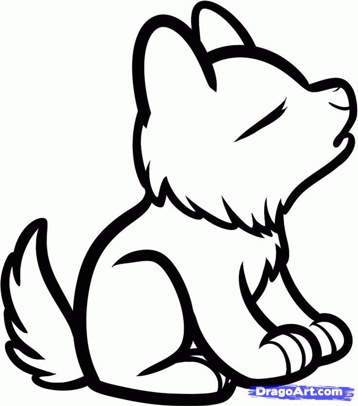 Sketch clipart cartoon Wolf Cartoon Step Draw Pinterest