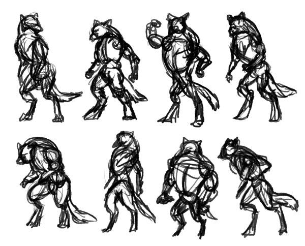 Drawn wolfman sketch How Design Werewolf study of