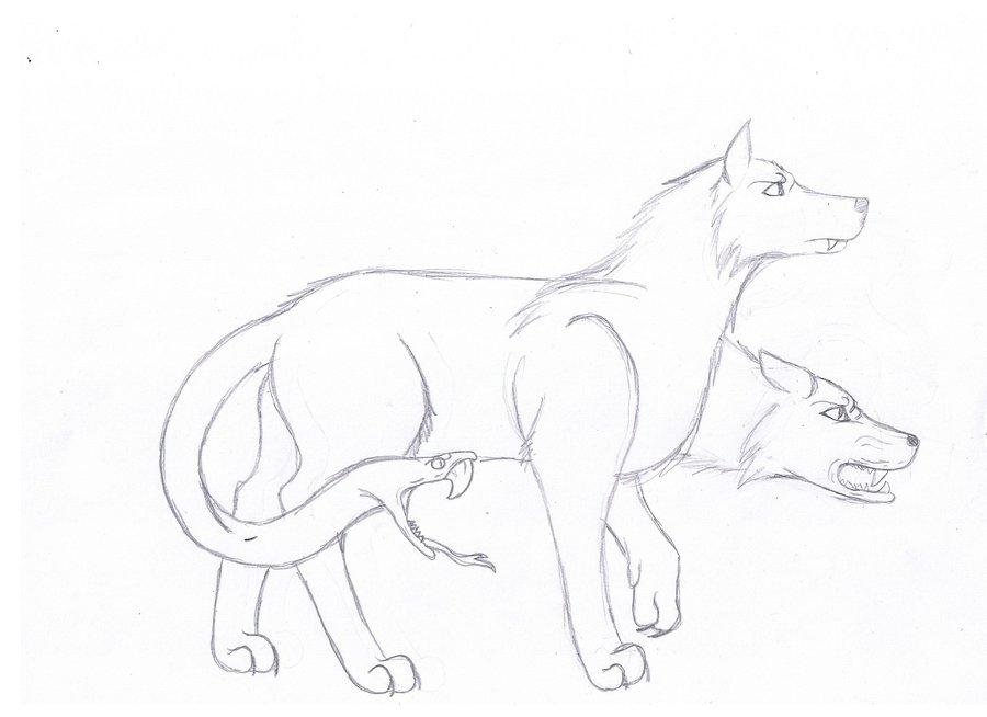 Drawn werewolf snake head Snake Headed Drawing headed by