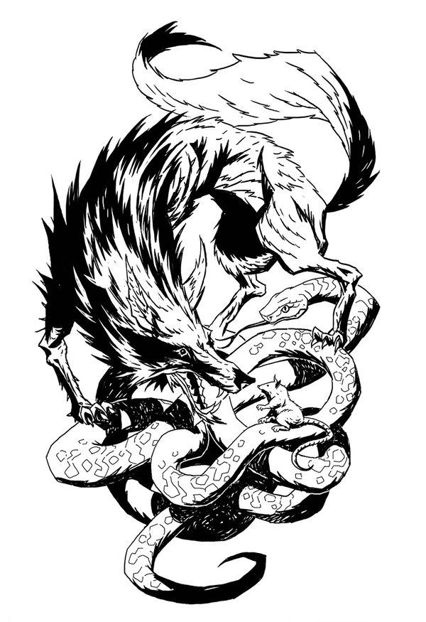 Drawn werewolf snake head DeviantArt snake snake michalivan rat