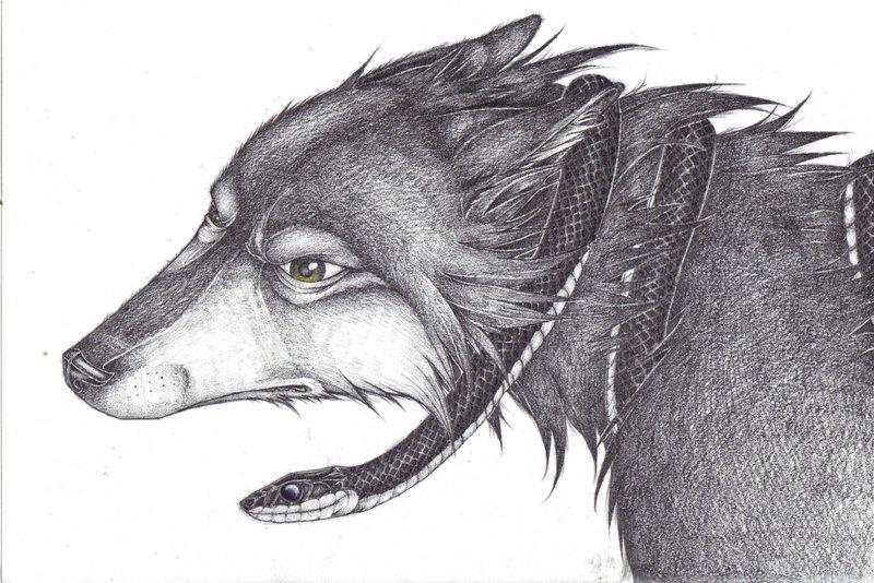 Drawn werewolf snake head DeviantArt and and Uralowa Snake
