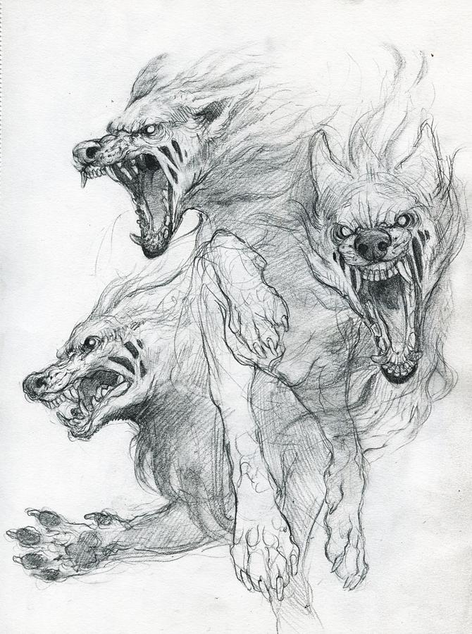 Drawn werewolf snake head Tattoo sketch by to View