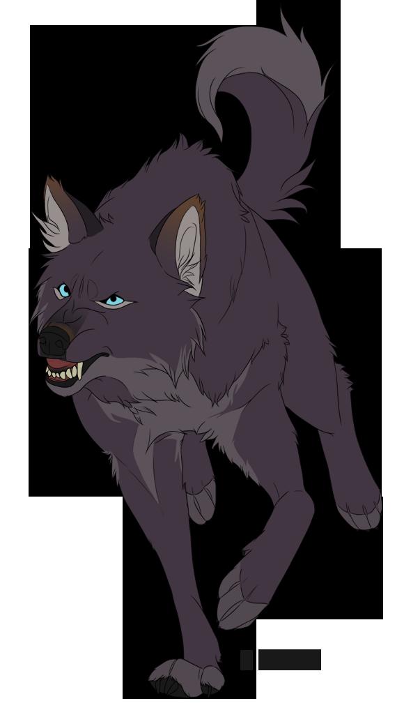 Drawn werewolf transparent Dark gray eyed / by