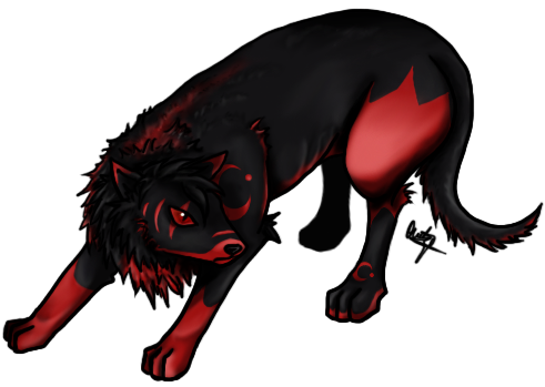 Drawn werewolf transparent Sitting down  Transparent View