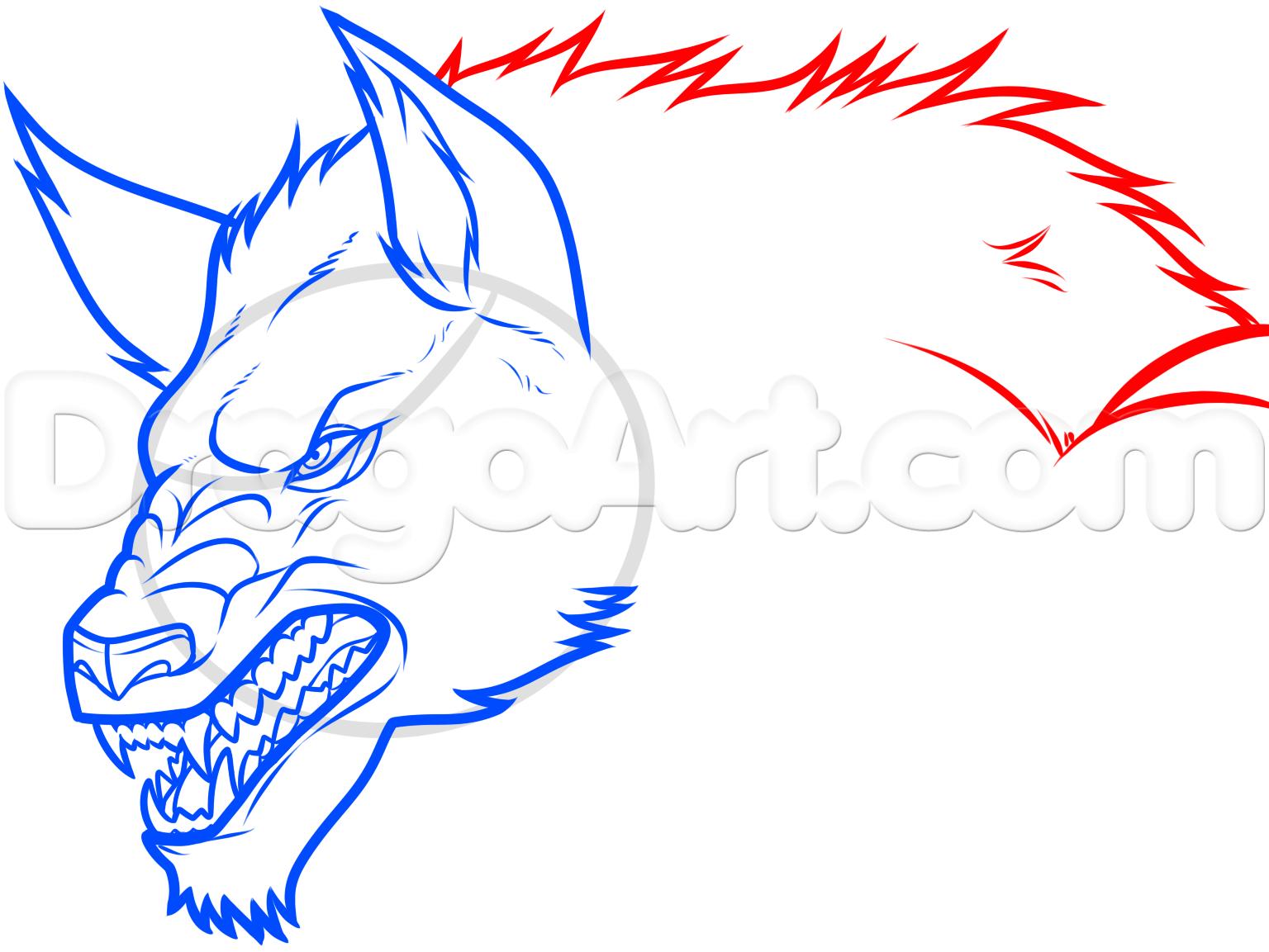 Drawn wolfman dragoart How Werewolves a Step werewolf