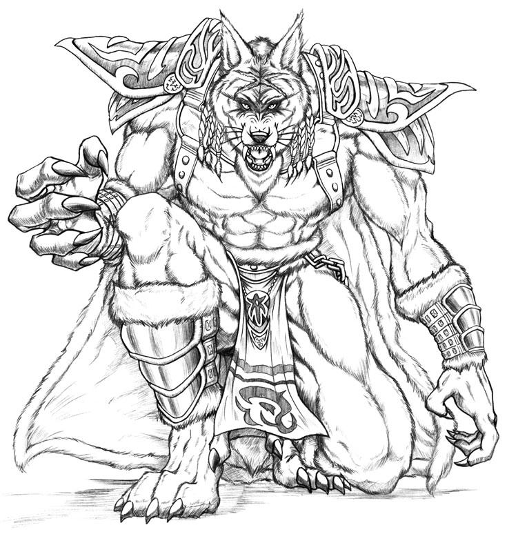 Drawn werewolf warrior Jpg Wolf VCL LSI project_1