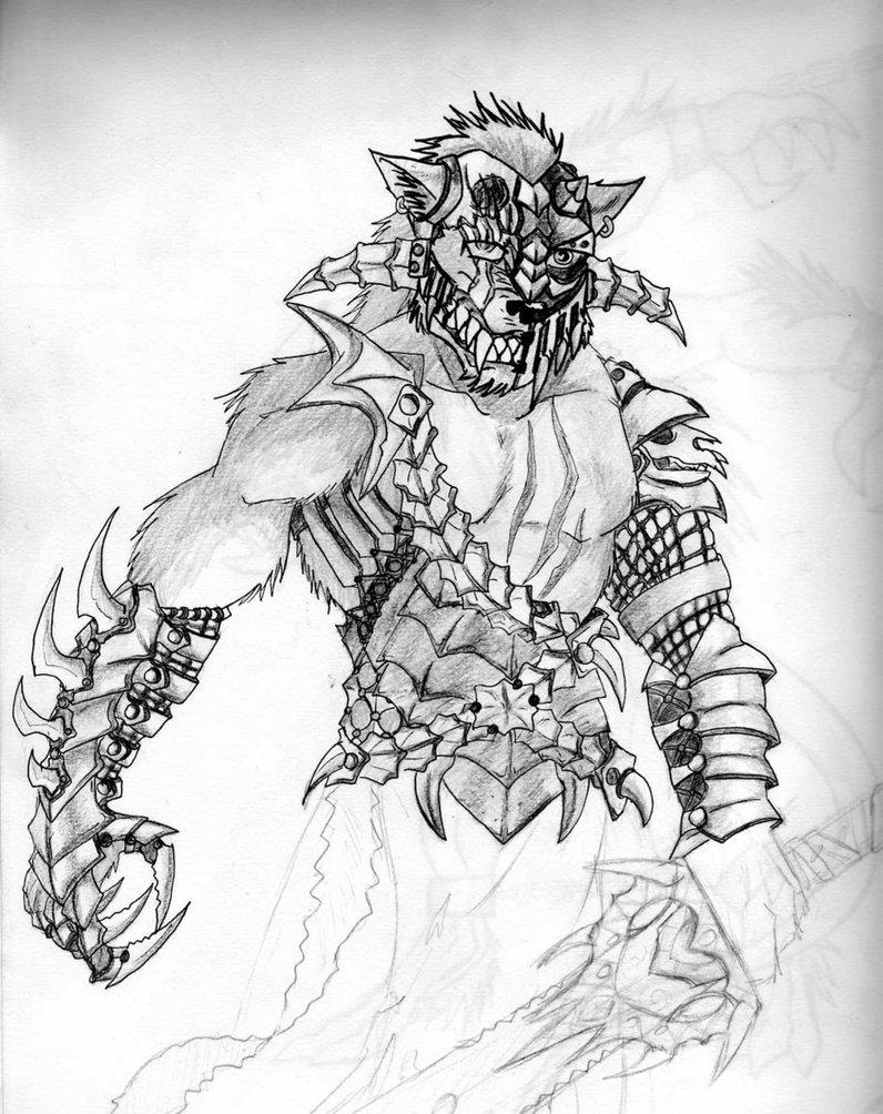 Drawn werewolf warrior Gallery Werewolf Warrior of Drawings
