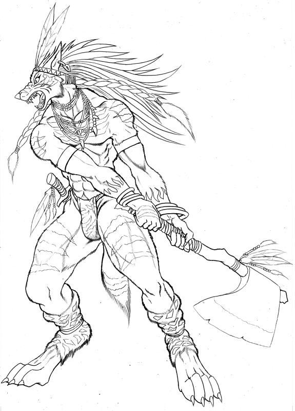 Drawn werewolf warrior Jpg Wolf VCL LSI mad4