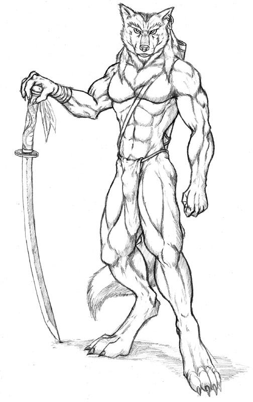 Drawn werewolf warrior Jpg Wolf VCL LSI swordwolf2