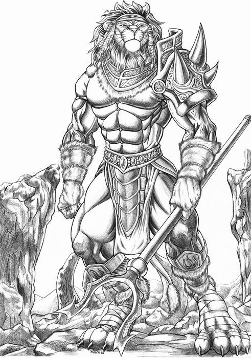 Drawn werewolf warrior Jpg Wolf VCL LSI anthrotournament