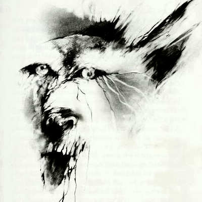 Drawn werewolf west virginia Wolf Scary White Scary Wolf
