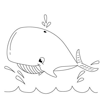 Drawn whale Children for enough sep sep