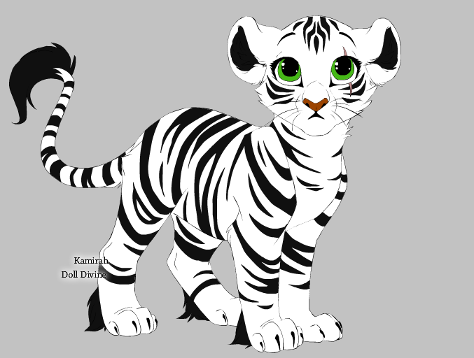 Drawn white tiger Tiger by Mix White Mix