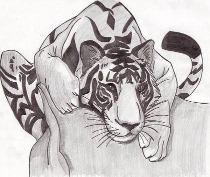 Drawn white tiger Fanpop White Shadow3ternal18's image AJ